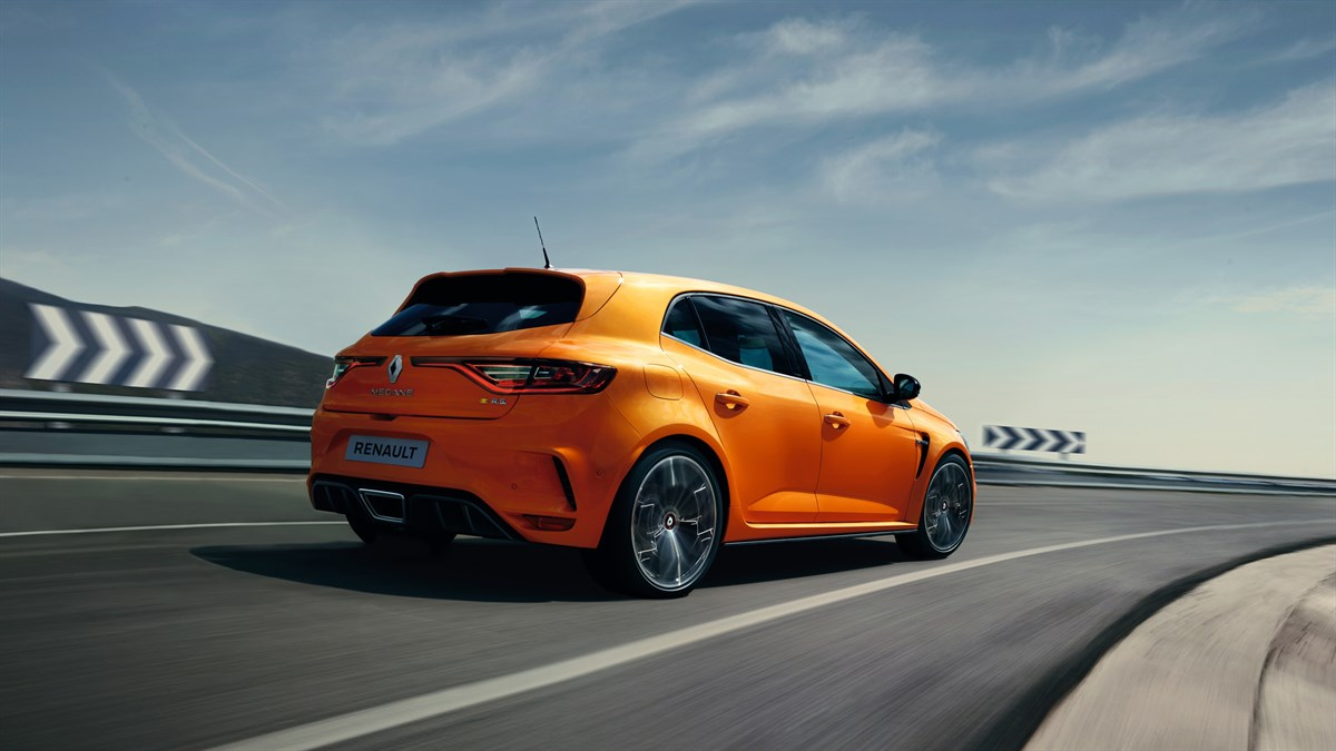 Renault MEGANE RS - sporty car beginning a turn