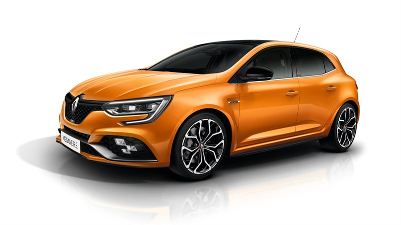 Renault MEGANE RS - Sirius Yellow and Orange Tonic version in situation