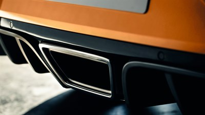 Renault MEGANE RS - focus on the twin central exhaust pipe