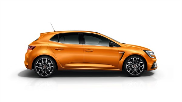 Renault MEGANE RS - profile against a white background