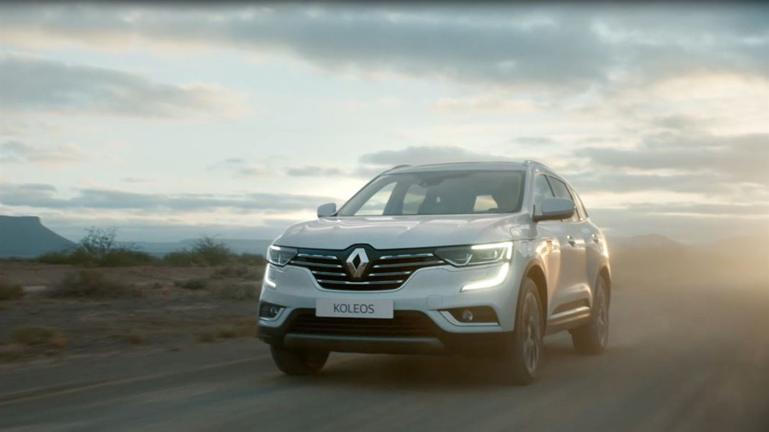 Renault KOLEOS on the road front view