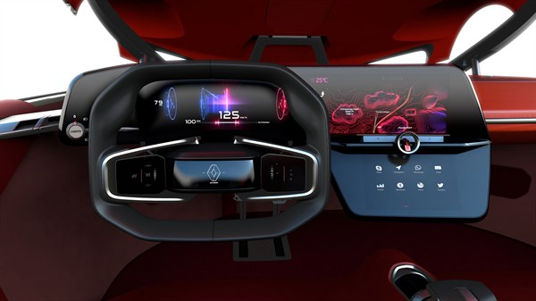 Renault TREZOR concept car steering wheel design""