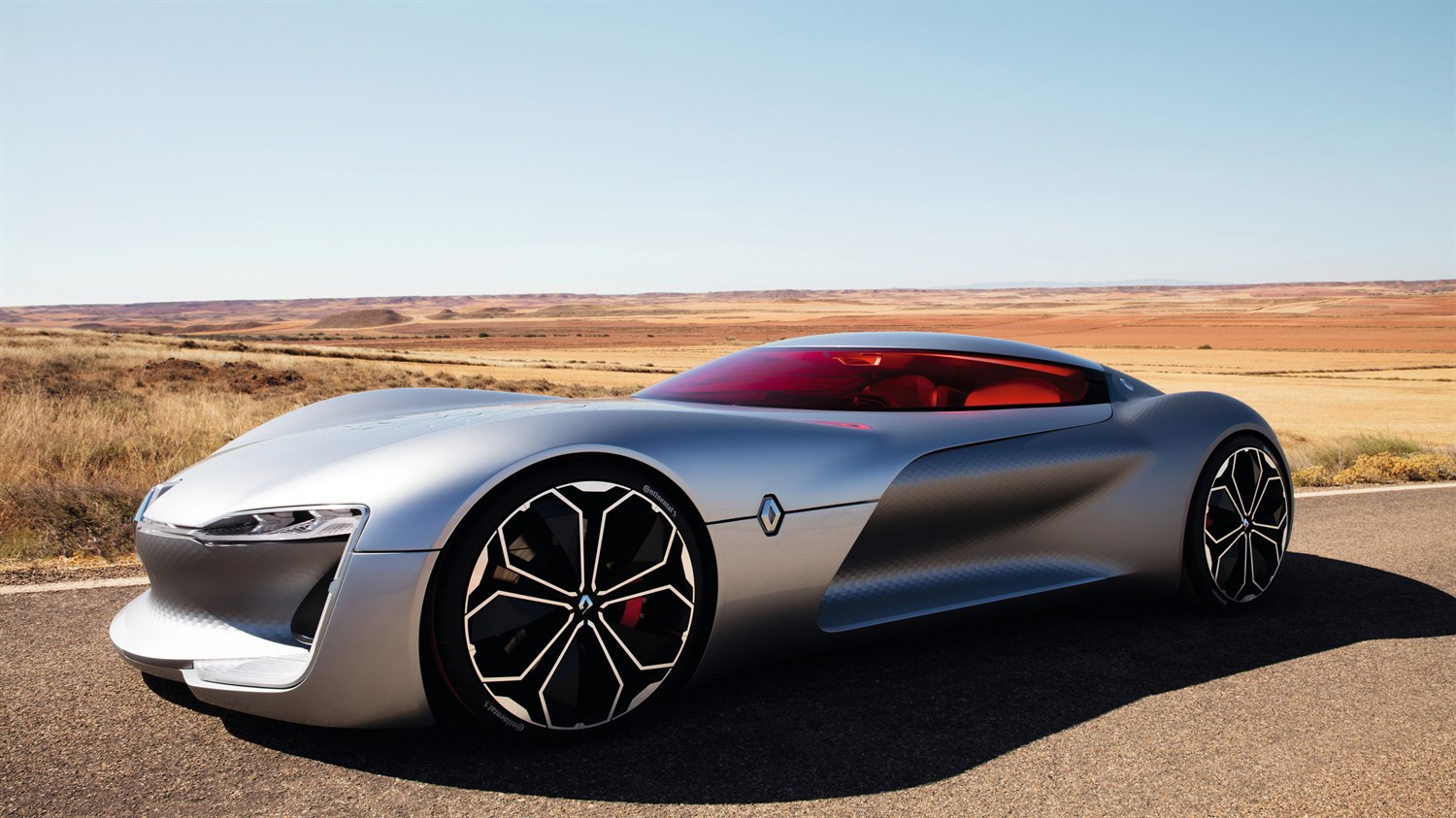 Renault TREZOR concept car on the road