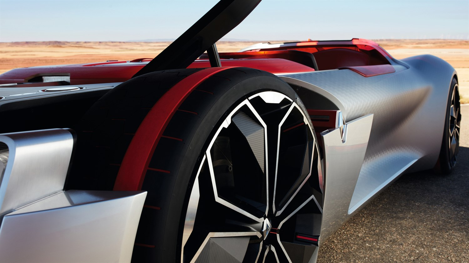 Renault TREZOR concept car wheel close up picture